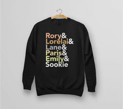 Gilmore Girls Characters Hoodie from Boots Tees