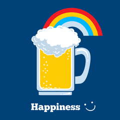 Happiness: Cute Beer T-shirt from Boots Tees