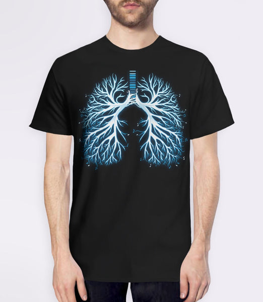 I Breathe Music T-Shirt | graphic tee and musician gift - black mens