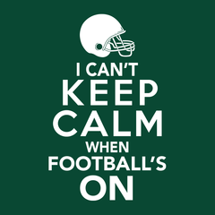 I Can't Keep Calm When Football's On T-shirt from Boots Tees