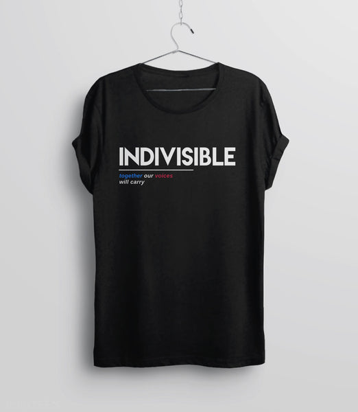 Indivisible t-shirt: together our voices will carry - unisex tee
