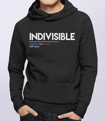 Indivisible: Together Our Voices Will Carry Hoodie from Boots Tees