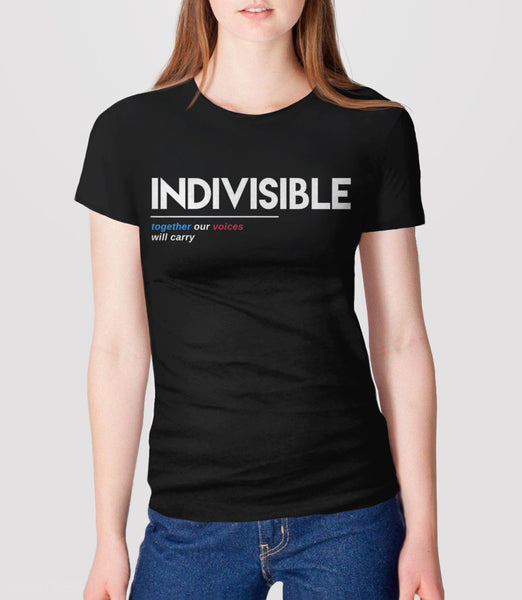 Indivisible t-shirt: together our voices will carry - womens tee