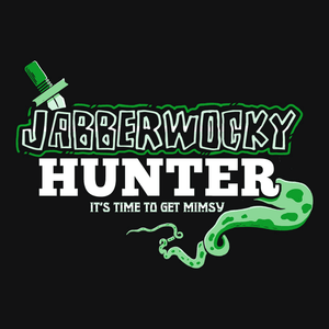 Jabberwocky Hunter, Navy Mens (Unisex) Tee by BootsTees