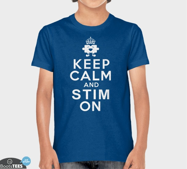 0fbb9111 ... Keep Calm and Stim On, Royal Blue Kids Tee by BootsTees ...