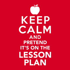 Pretend It's on the Lesson Plan T-shirt from Boots Tees