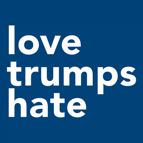 Love Trumps Hate inspirational anti trump t-shirt