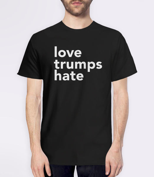 Love Trumps Hate inspirational t-shirt - mens black