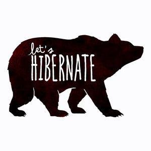 Let's Hibernate | Funny Boho Sleep T-Shirt with Watercolor Bear Graphic