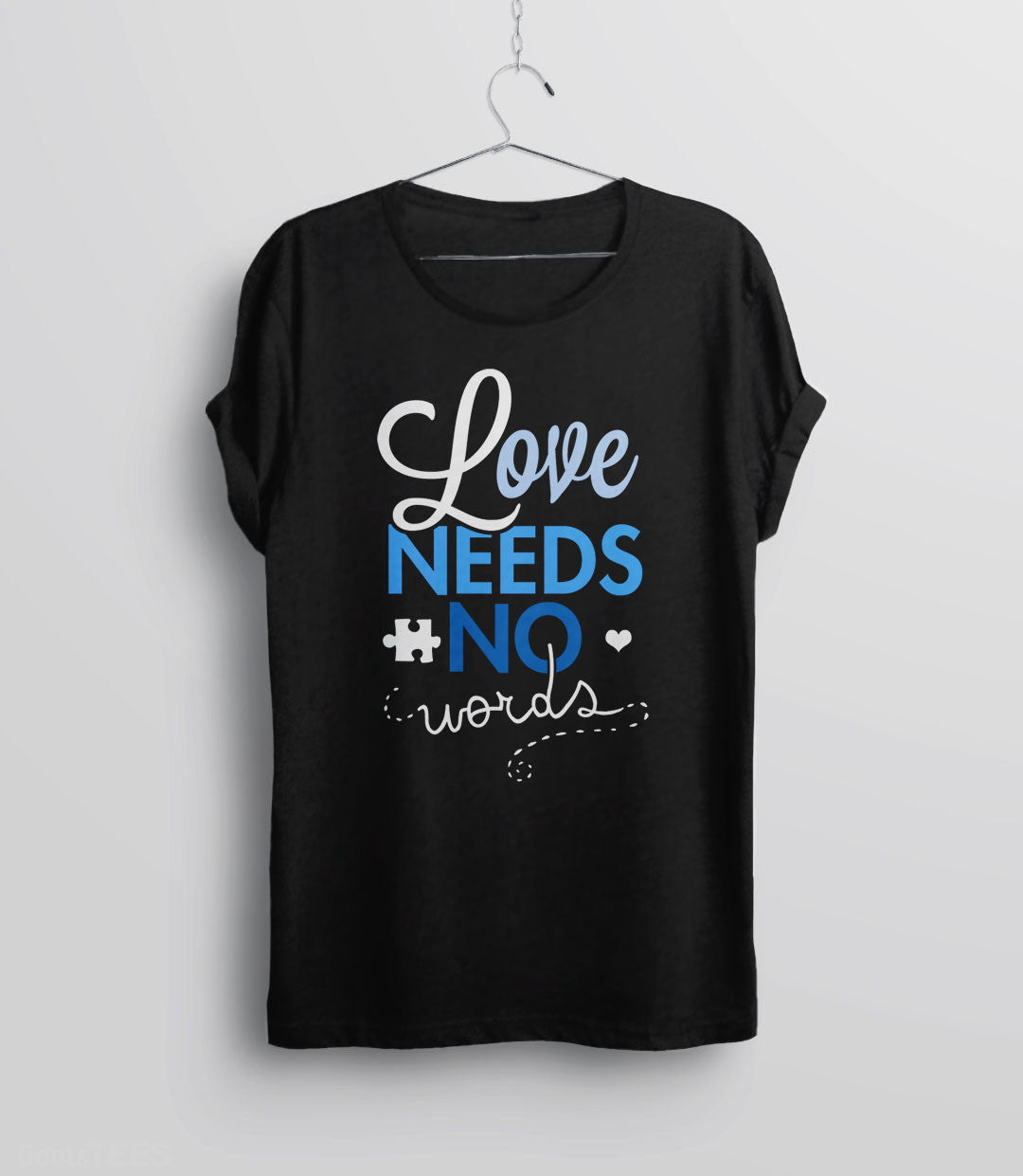 Love Needs No Words t-shirt for autism awareness month - unisex tee