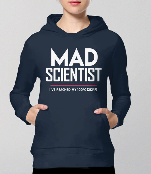 Mad Scientist science march protest hoodie - navy