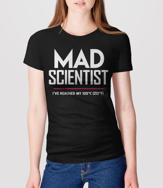 Mad Scientist science march protest t-shirt - womens black
