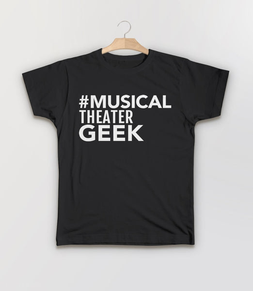 Musical Theater Geek, Black Kids Tee by BootsTees