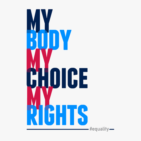 Pro Choice Shirt for Women's Rights, My Body Choice Rights tee