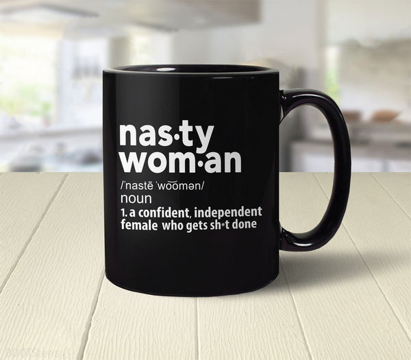 Nasty Woman Definition Coffee Mug (back)