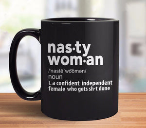 Nasty Woman Definition Coffee Mug - Black