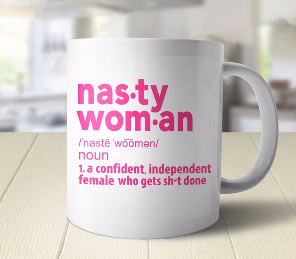 Nasty Woman Definition Coffee Mug - pink and white