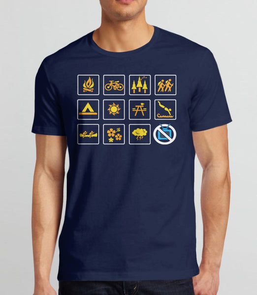 Nature, Navy Mens (Unisex) Tee by BootsTees