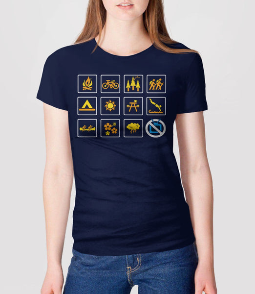 Nature, Navy Womens Tee by BootsTees