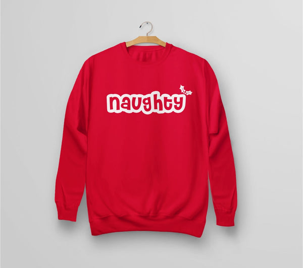 Naughty Christmas Sweatshirt - red