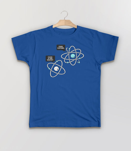 Negative Atom, Royal Blue Kids Tee by BootsTees