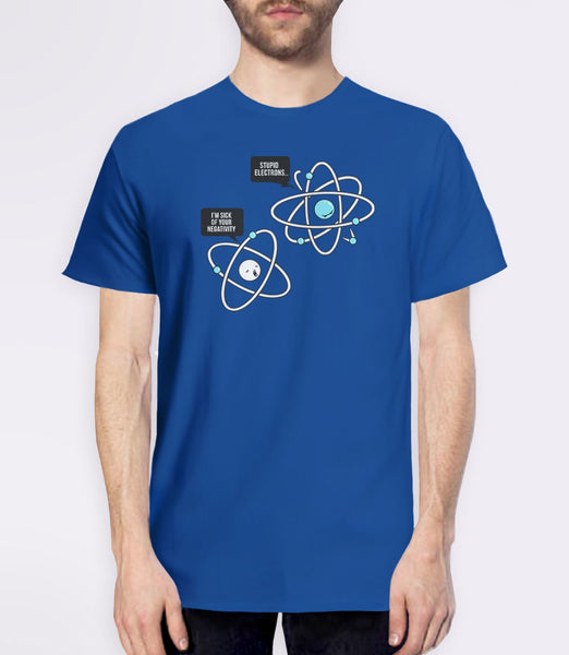 Negative Atom, Royal Blue Mens (Unisex) Tee by BootsTees