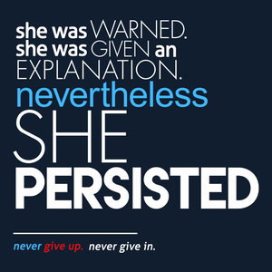 Nevertheless She Persisted full quote Elizabeth Warren t-shirt