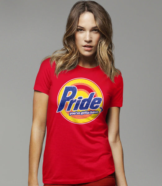 Pride, Red Womens Tee by BootsTees