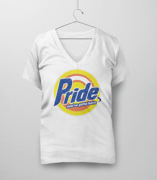 Pride, White Womens V-Neck by BootsTees