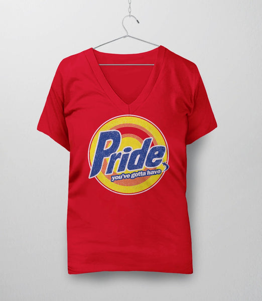 Pride, Red Womens V-Neck by BootsTees