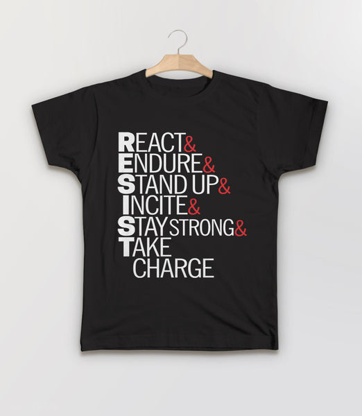 Resist Acronym T-Shirt - kids protest tee