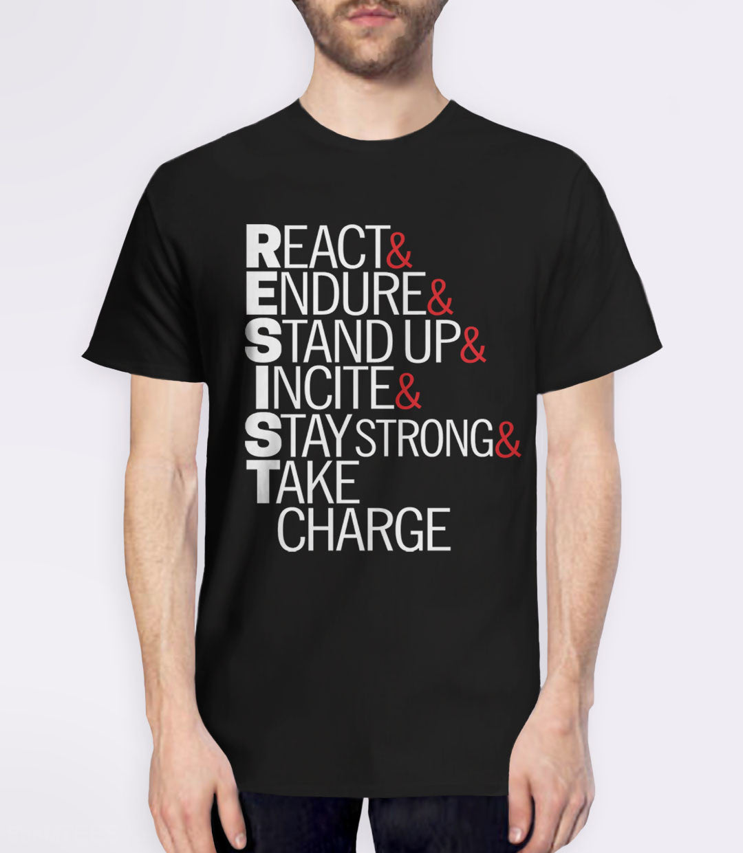 Resist Acronym T-Shirt - mens protest tee