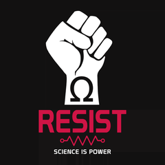 Resist: Science is Power T-shirt