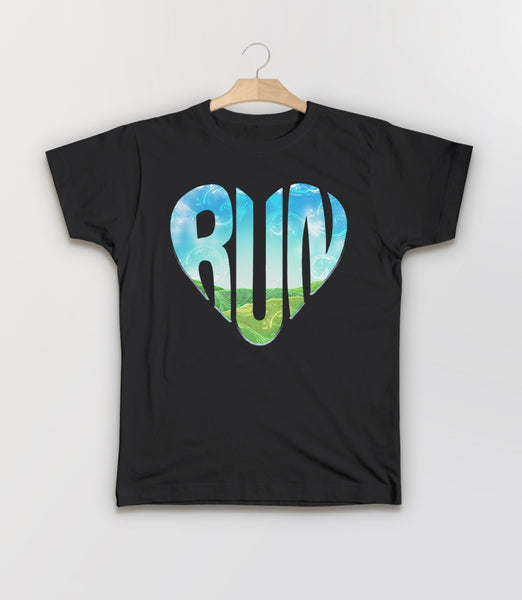 RUN, Black Kids Tee by BootsTees
