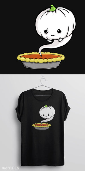 Sad Pumpkin, Black Mens (Unisex) Tee by BootsTees