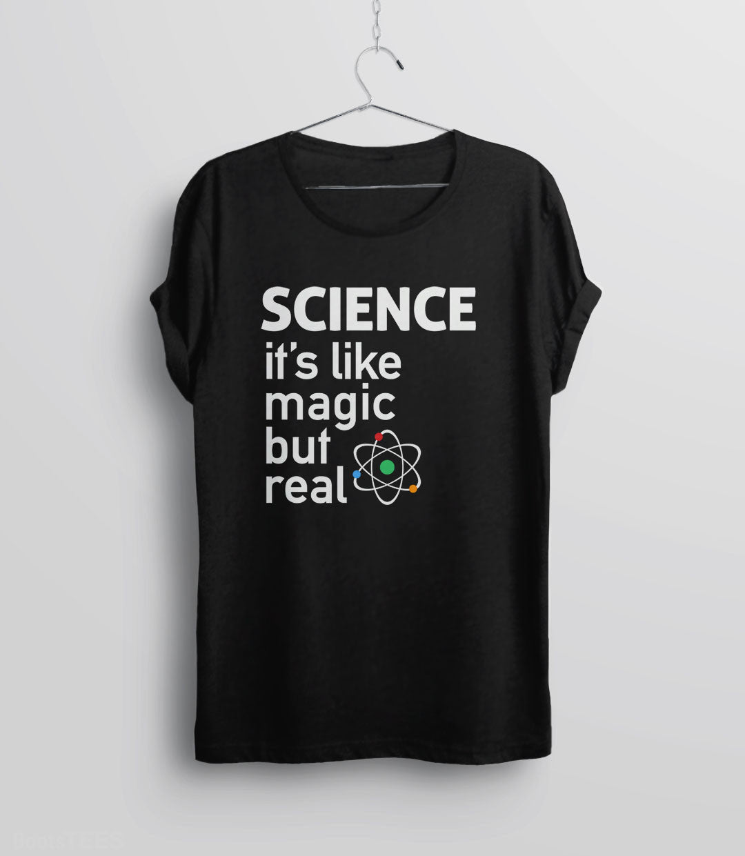 SCIENCE: It's like magic but real - funny science t-shirt, unisex black