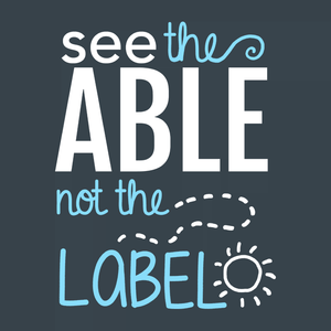 Cute Autism T-Shirt: see the able not the label