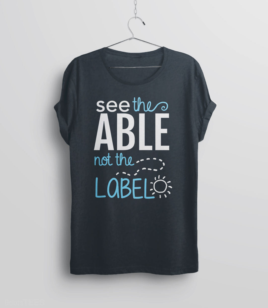 Cute Autism T-Shirt: see the able not the label - gray unisex tee