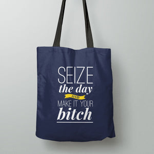 Women's Empowerment Tote Bag with funny inspirational quote for women.