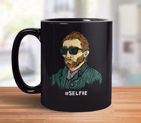 Funny Vincent Van Gogh Coffee Mug: Master of the Selfie | This Van Gogh art gift is perfect for those who love art history, impressionism, and taking selfies. :)