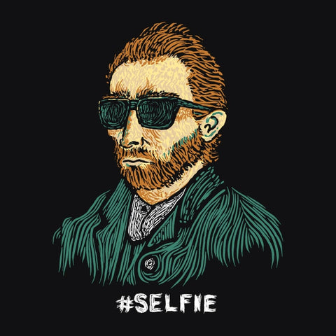"Funny Van Gogh T-Shirt. Vincent really was the first ""Master of the Selfie"""