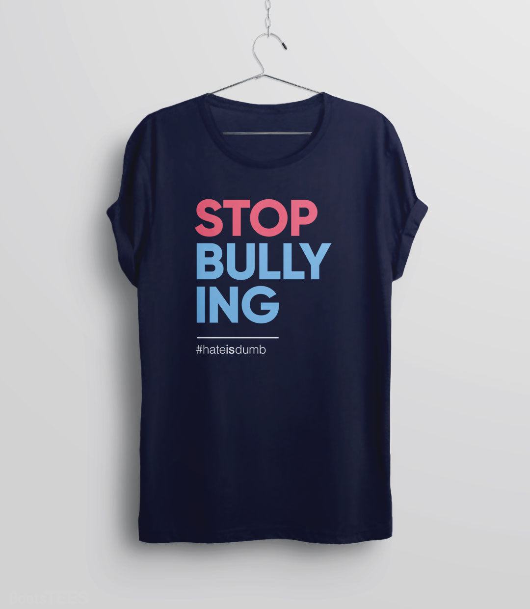 Stop Bullying anti-bullying t-shirt - navy unisex tee