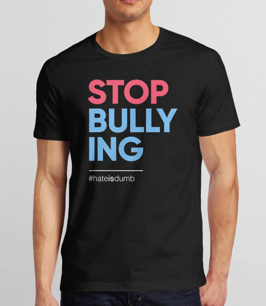 Stop Bullying anti-bullying t-shirt - black mens tee