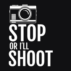 Stop or I'll Shoot T-shirt from Boots Tees