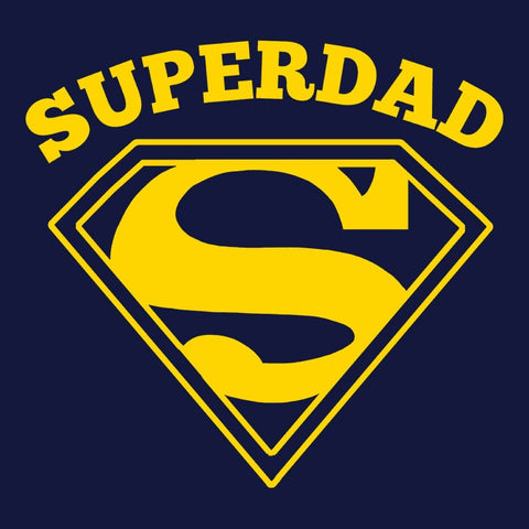 Superdad, Navy Mens (Unisex) Tee by BootsTees