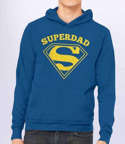 Superdad, Royal Blue Unisex Hoodie by BootsTees