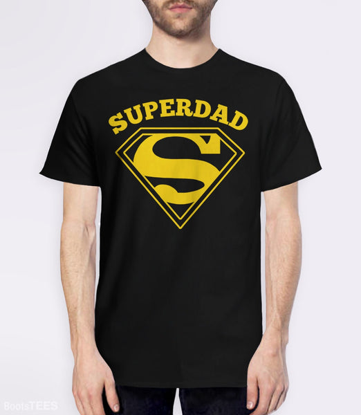 Superdad, Black Mens (Unisex) Tee by BootsTees