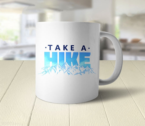Take a Hike | Sarcastic Coffee Mug for nature lovers - back