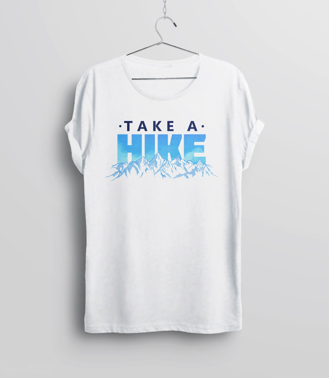 Beautiful Hiking Typography T-Shirt with Funny Outdoors Quote for Nature Lovers. Pictured: Unisex Tee Shirt