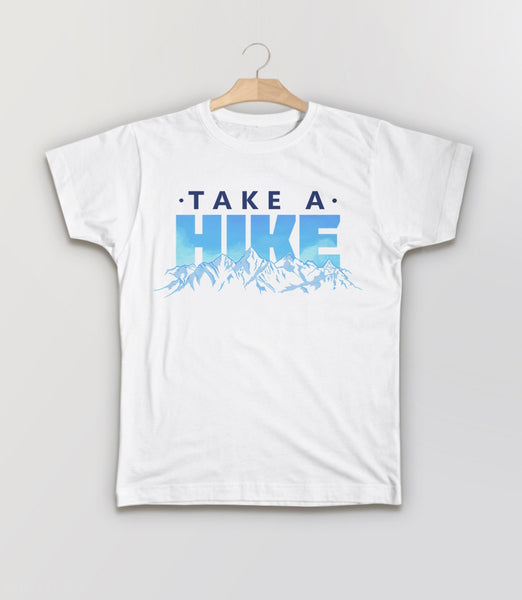 Take a Hike, White Kids Tee by BootsTees